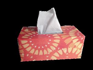 tissues voor tranen van het slachtoffer
