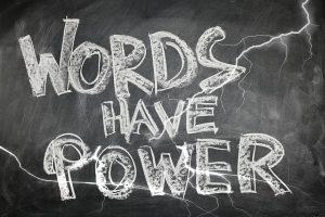 woorden hebben kracht