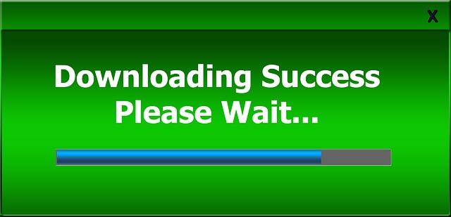 Succes wordt gedownload - even wachten